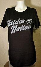 NEW NFL Team Apparel Oakland Raiders Raider Nation Black Shirt Womens Large (L)