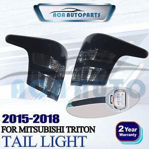 Tail Lamp Lights Rear Smoke Black For Mitsubishi Triton L200 MQ 15 16 17 18