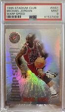 Michael Jordan 1995 Topps Stadium Club Warp Speed WS1 Insert PSA 9 MINT LOW POP
