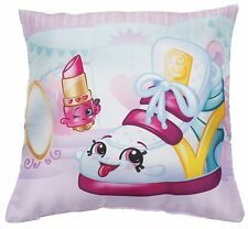 NEW SHOPKINS SHOPAHOLIC CANVAS PRINT PINK CUSHION GIRLS KIDS GIFT PRESENT PILLOW
