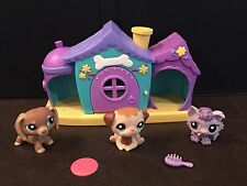 "LPS Littlest Pet Shop ""Puppies Playset"" Collie Dachshund 1751 1752 1753 Complete"