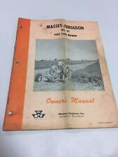 Massey-Ferguson No. 52 Pull Type Mower Owners Operators Manual