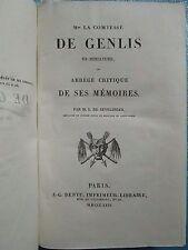 LA COMTESSE DE GENLIS en miniature, 1826. E.O.