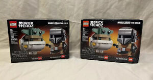 LEGO 'Brick Headz' 75317 Star Wars The Child and The Mandalorian Set TORN BOX
