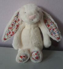 JELLYCAT WHITE RABBIT FLORAL BUNNY EASTER PLUSH STUFFED DOLL SOFT TOY