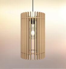 Lampadario rustico moderno in legno soffitto sospensione - Design Forma Cilindro