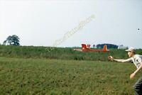 FAI Model Aircraft 1950s 35mm Slide Kodachrome Vtg Man Launch Fly Airplane Plane