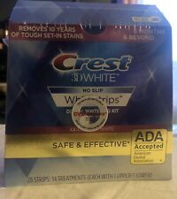 Crest 3D White No Slip 28 Strips : 14 Treatments (each With 1 Upper/1 Lower10/21