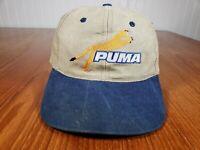 VINTAGE Puma Baseball Hat Cap Old Logo Sample Promo Rare Daewoo Strapback
