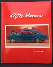 ALFA ROMEO HARDCOVER BOOK BY EVAN GREEN 1976 EDITION