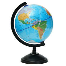 14cm World Globe Atlas Map With Swivel Stand Geography Educational Toy Kids Gif