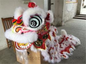 Chinese Folk Art Hoksa Lion Dance Mascot Costume Wool Southern For Two Adults @