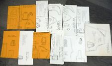 """Vintage Lot of 1980s Sandra Horn Patterns for 18"""" Doll Clothes P439"""