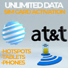 At&t Unlimited 4G Lte Sim Card Activation on $34.99 Data Hotspots/Phones/Tablets