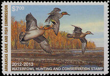 ARKANSAS #32 2012 STATE DUCK STAMP RESIDENT GREEN WINGED TEAL by Scot Storm