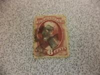 Red Vintage Lincoln 6 Cent Used Stamp