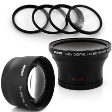 Albinar 58mm 0.43x Wide Angle, 2x Tele Lens, Filter for CANON REBEL T3 60D 7D US