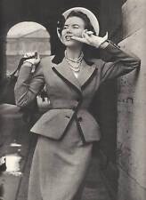 Publicité ancienne mode tailleur Balmain 1950 issue de magazine