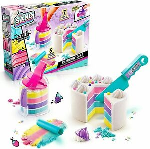 So Sand DIY Rainbow Cake Set Magic Sand 5 Scented Colours New Kids Xmas Toy Gift