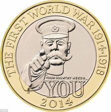 £2 Coin - 'Your Country Needs You'  WW1 - Rare - Collectable - Two Pound