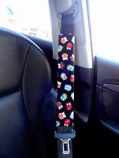 Adult Kids Seat Belt Strap Shoulder Pads Cover use for Car - Owls in Black
