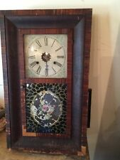 Antique E.N. Welch Ogee Wall Clock-W/Brass Movement -Parts/Repair!