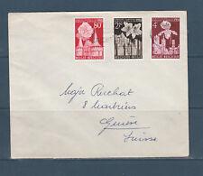 Eta/ enveloppe Belgique série des timbres floralies Gantoise pour la Suisse 1955