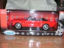 Modellauto Ford Mustang Cabrio 1:18 rot/schwarz von Welly