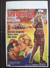 affiche cinéma originale ancienne sergent X 1960 légion étrangère