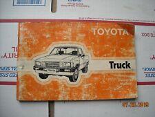 1984 Toyota Pickup Truck 22R Owner's Manual Handbook
