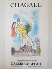 Marc Chagall Lithographie Galerie Maeght