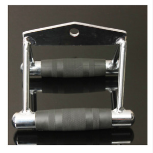Triangle V Close Grip Seated Steel Row Bar Cable Machine Equipment Back Training