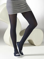Gipsy Cotton Opaue Tights, Soft Black, Navy Winter Tights