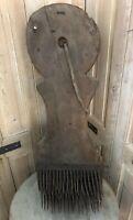 Planche Peigne à Carder Ancien XIXeme Filature Rouet Art Populaire Outil