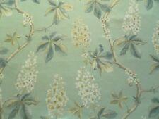 Sanderson Curtain Fabric CHESTNUT TREE 1.4m Blue Grey/Sage Floral Design 140cm