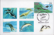 Maxicard India 2009 Dolfine Whale Marine Life maximum card Underwater