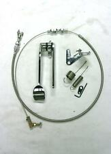 "Street Rod Chrome Spoon Gas Pedal + 24"" SS Throttle Cable & Bracket Spring Kit"