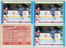 QUEBEC NORDIQUES Lot of 4 - 1989-90 O-Pee-Chee #313 OPC - JOE SAKIC Rookie Year
