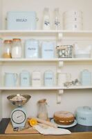 Kitchen Craft Living Nostalgia VIntage Kitchen Storage Cooking Accessories Blue