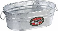 Behrens Lot (3) 2 Gallon Hot Dipped Galvanized Water Oval Wash Tubs 6227920