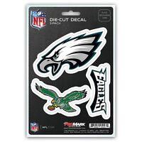 Philadelphia Eagles Decals Die-Cut Auto Multi-use Stickers 3-Pack