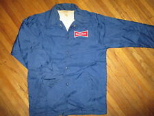 vtg 1970s 80s BUDWEISER JACKET Beer Delivery Guy Windbreaker Patch Uniform SMALL