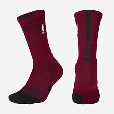 NBA Nike Elite 1.5 Cushioned Crew Team Red Black Basketball Socks SX5867-677
