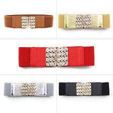 Textured Leather Look Waist Hip Belt Silver Diamante Buckle Pink ICE 2513-3