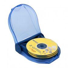 ProfiOffice CD-Etui für 12 CDs/DVDs Hülle Aufbewahrung Box Case Blue Ray Media