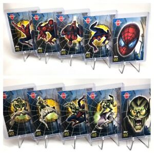 Spider-man Glow in the Dark Stickers, Chase / Insert Set 1-10 by Topps 2002