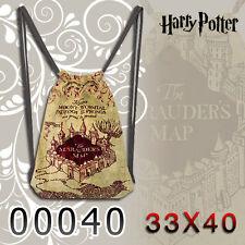 Hot Harry Potter Marauders Map Bag Backpack Bag Knapsack Packsack Travel Gifts