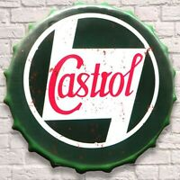 Castrol Oil Petrol Vintage Retro Wall Sign Metal Bottle Top Man cave Garage Art