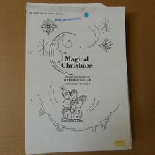 choral music set MAGICAL CHRISTMAS Raymond Gould unison or 2 part, 65 parts