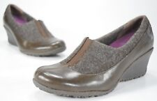 Merrell Women's Wedges Size 7.5 Expresso Tulip Brown Wool Leather Loafers $90
